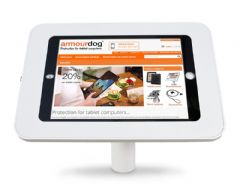 armourdog® LocPad anti-theft tablet kiosk with 30° desk / wall mount